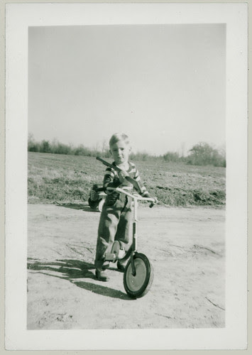 Kid and a bicycle