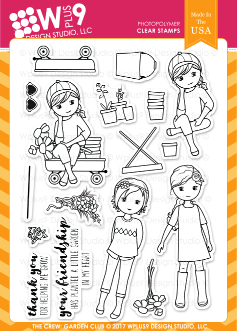 Wplus9 The Crew: Garden Club Stamp