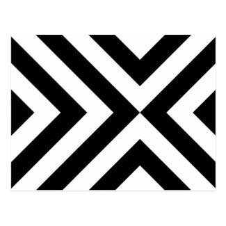 Black and White Chevrons Postcard