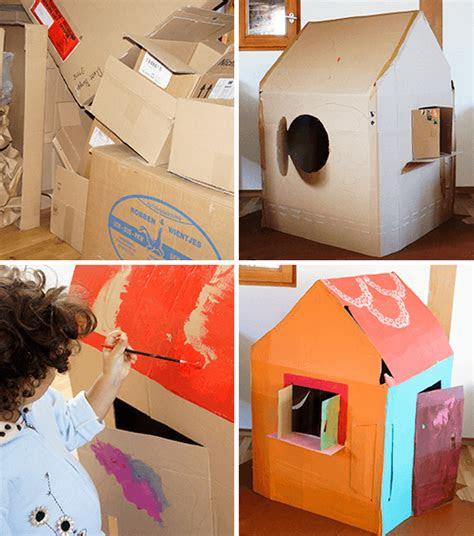 spielhaus aus pappe handmade kultur