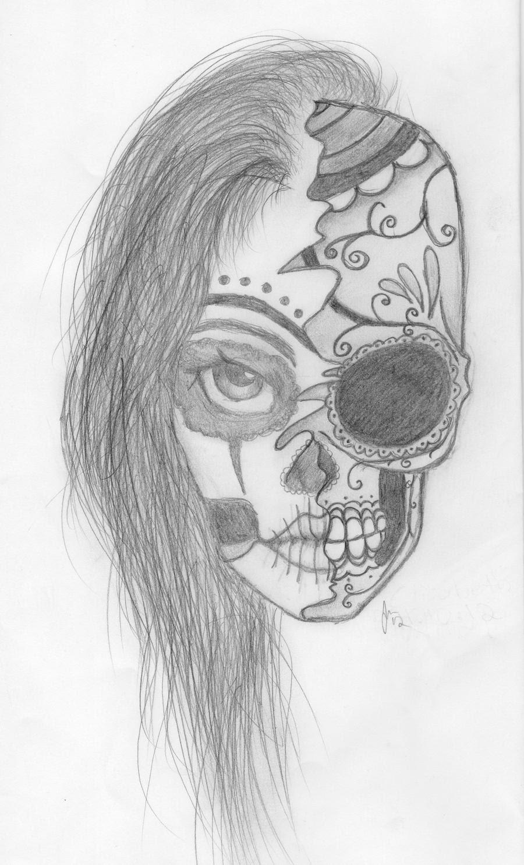 Pictures Of Girly Sugar Skull Drawing Kidskunstinfo