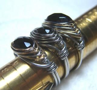 Herringbone Weave Rings