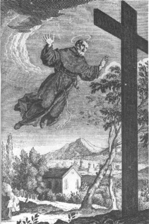 Saint Joseph of Cupertino, 18th century engraving