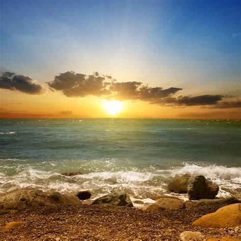 wallpaper sunset beach sunlight summer hd  nature  wallpaper  iphone android