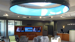 Saturn Digital Media digital signage wall at Libro Financial Group London West thumb