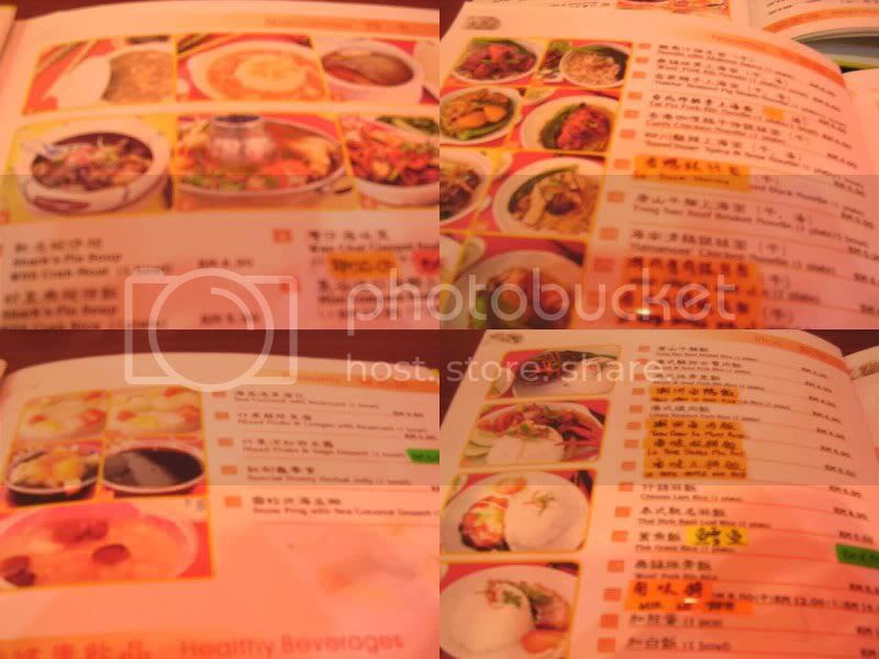 Wan Chai menu