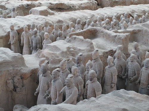 Terracotta soldiers in Xi'an China.