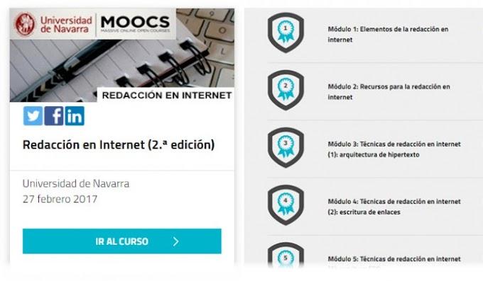 Curso gratuito en español sobre técnicas de redacción en internet