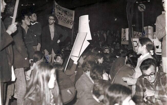 Em 1966, a UNE decreta em 22 de setembro o Dia Nacional de Luta contra a Ditadura. Foto: Arquivo Brasil Nunca Mais