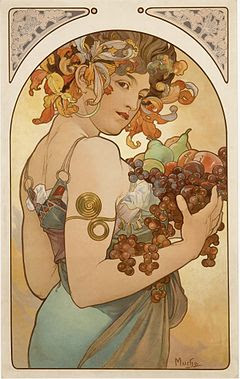 Alfons Mucha - Fruit2