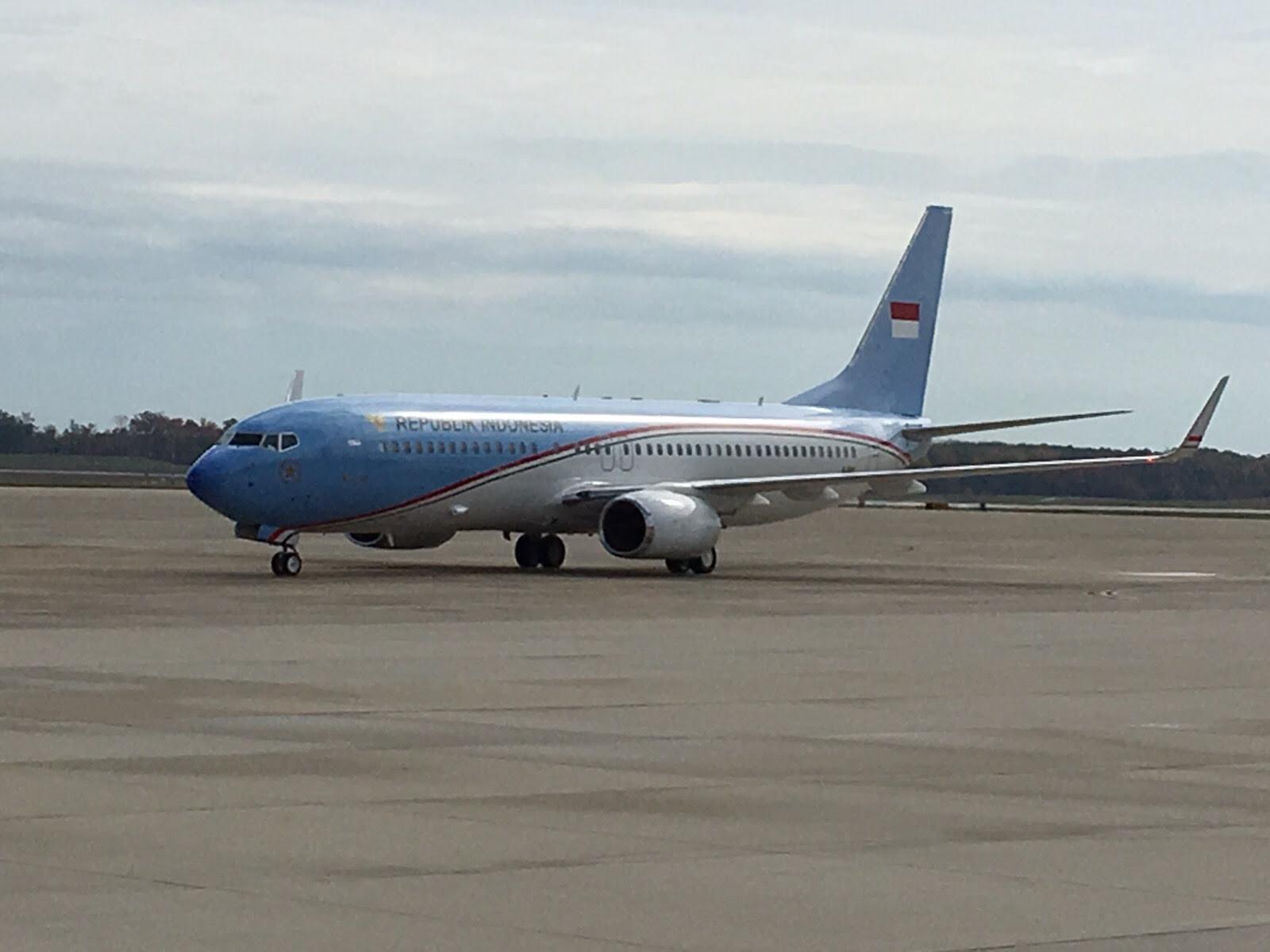 Pesawat Kepresidenan RI baru saja mendarat di Amerika Serikat