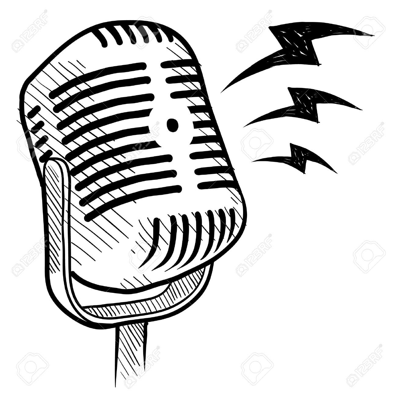 Microphone With Music Notes Clipart Free Download Best Microphone