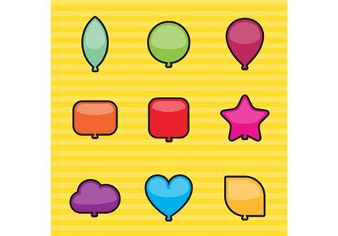 Shapes Balloon Vectors   Download Free Vector Art, Stock