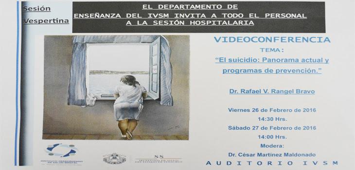 Realizará Instituto Veracruzano de  Salud Mental ciclo de videoconferencias