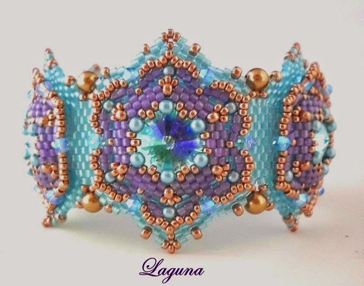 "MAPEDE ...Marion´s PerlenDesigns...: Armband "" Laguna "" ..."