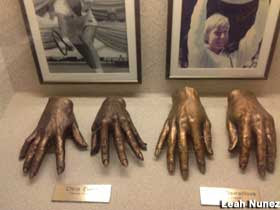 Hands of famous tennis players.