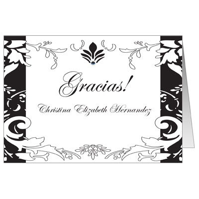 Quinceanera Thank You Cards Thank You Notes For Sweet 15