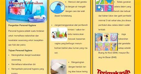 kebidanan leaflet personal hygiene kebersihan genetalia