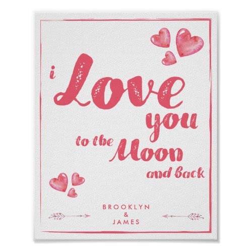 I Love You With Hearts And Arrows Poster 8x10