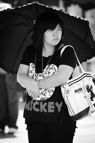 on the street : Umbrella