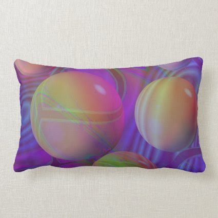 Inner Flow V Abstract Fractal Violet Indigo Galaxy Throw Pillows