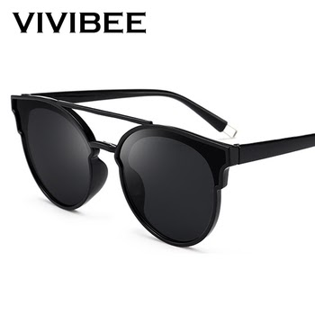 c290eeee7a VIVIBEE Selection Vintage Oval Glasses Fashion Style UV400 Protect Oculos  De Sol Masculino For Women