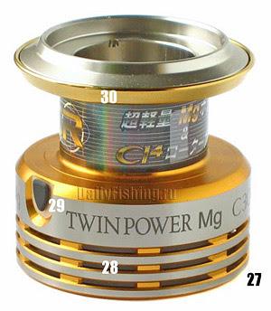 shimano 09 twin power mg spool