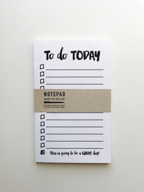 Notepad: daily to-do list — jack and ella paper