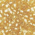 Mini-rocailles 2 mm Gold silver Lined x10g