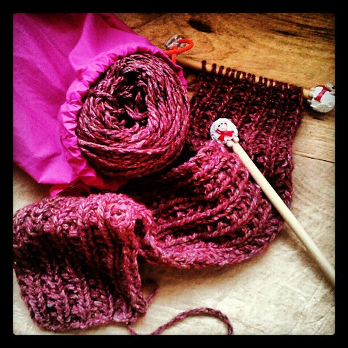 Really need to get the Amelia Scarf off the needles! #knitting #knitsofinstagram #debbiebliss