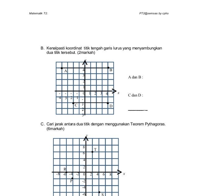 Soalan Matematik Tahun 4 Koordinat Tersoal O