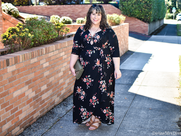 Reviewing Kiyonna's Meadow Dream Maxi Dress