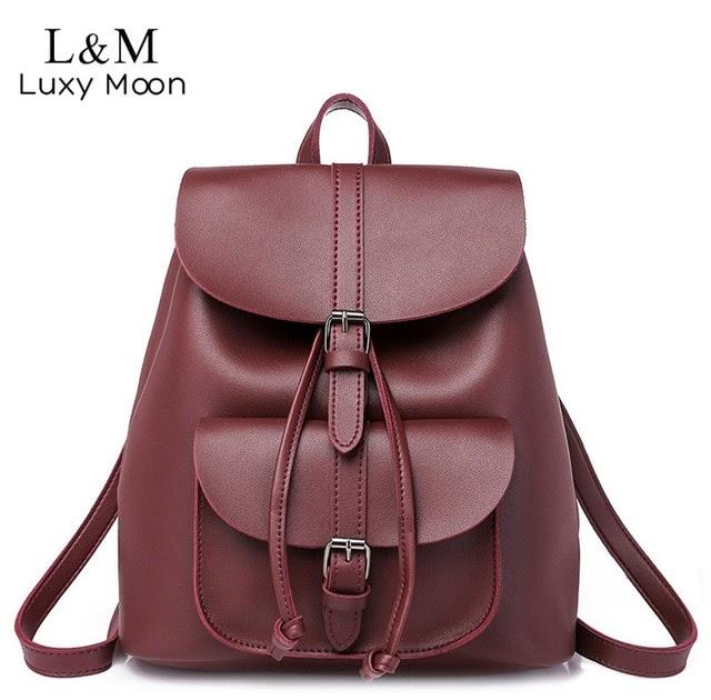 fdebe9b754c7 Women Backpack Vintage Leather Drawstring School Bag Black Rucksack Brand  Shoulder Bags For Teenage Girls Female Backpacks XA23H | China Market Great  Sale