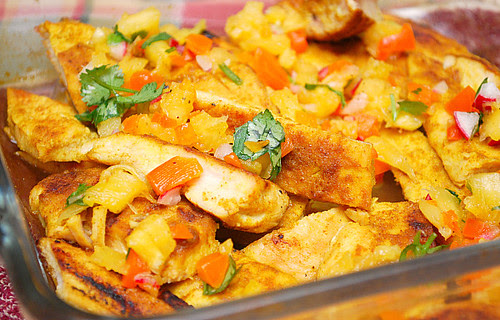 Tropical Grilled Chicken with Pineapple Salsa