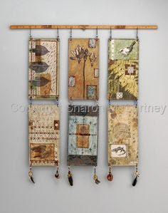 Sharon McCartney, take a minute to look at her Gallery...wonderful, wonderful artwork and assemblage and book pieces...stitched and painted.