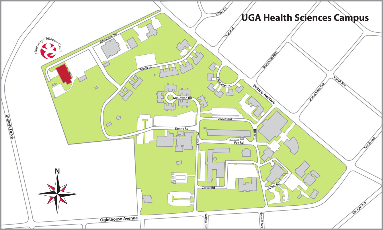Udm Campus Map.Uga Health Sciences Campus Map Map North East