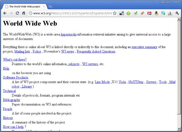 Worlds First Website