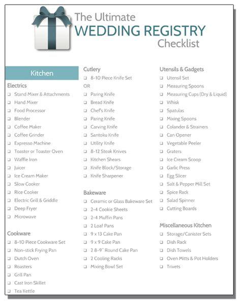wedding registry checklist registryfindercom