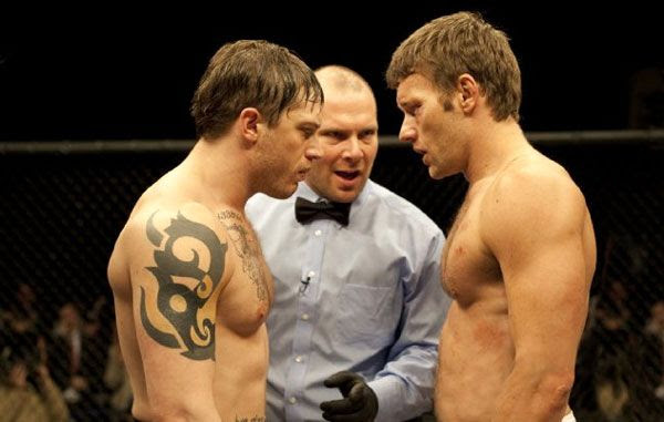 Tommy Conlon confronts Brendan, his older brother, during a UFC competition in WARRIOR.