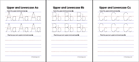 Upper and Lowercase Letters Worksheets - Freeology