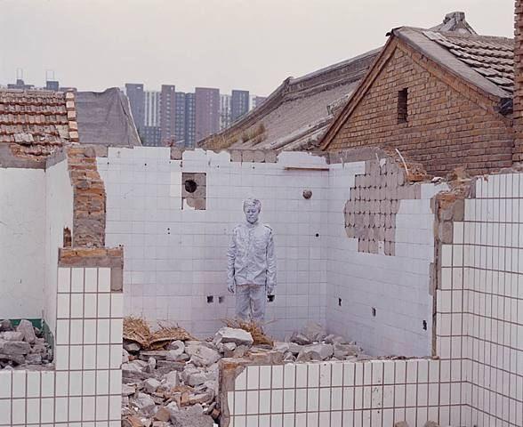 Liu Bolin, City Hiding 55 - Demolition