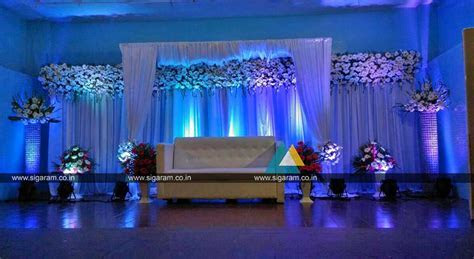 Outdoor Reception stage decoration at Hotel Ashoka