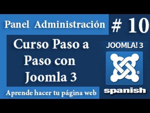 Elementos del panel de administración de Joomla