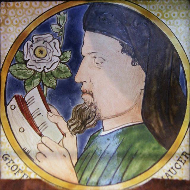 Tile - Chaucer - William De Morgan