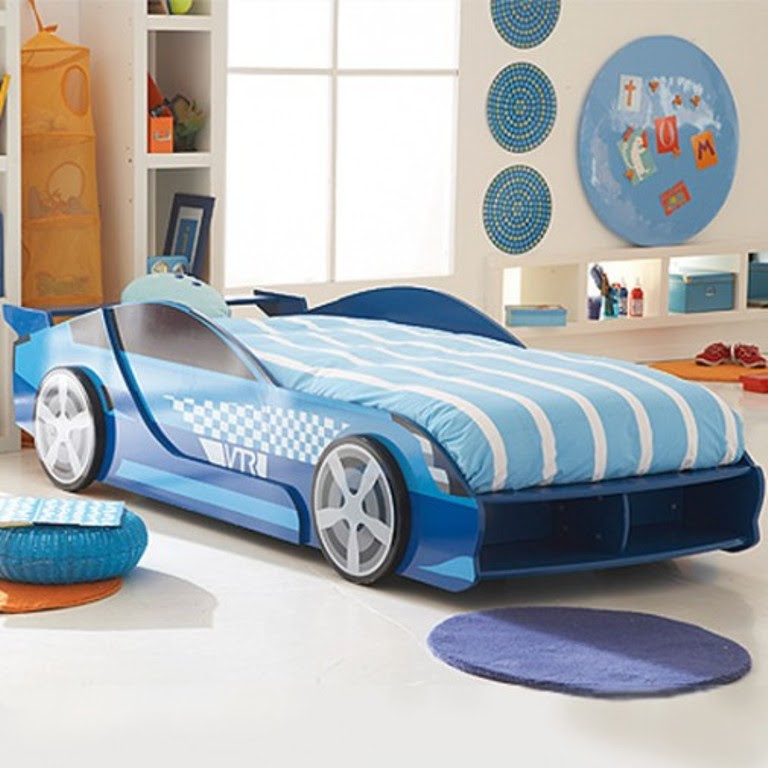 5-Cool-Blue-Car-Inspired-Bed-for-Boys