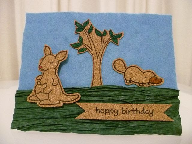 Cork on felt (top) and paper ribbon (botton) by the little mennonite, via Flickr