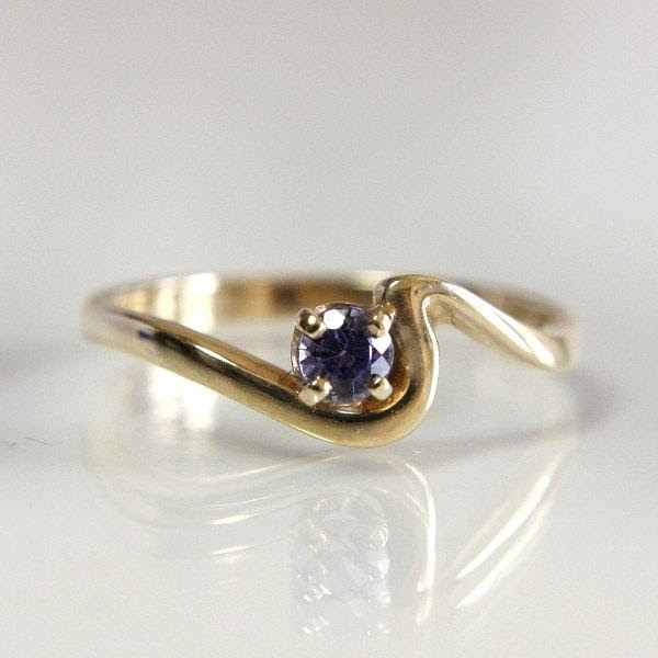 Gemstone Engagement Ring Tanzanite 14k Yellow Gold Size 6 12