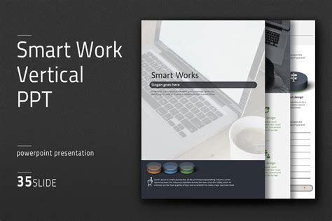 Smart Work Vertical PPT ~ PowerPoint Templates ~ Creative
