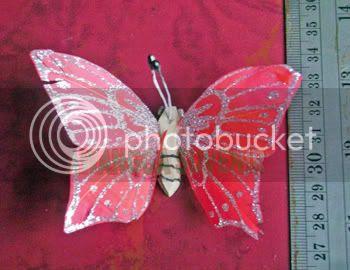 Souvenir Kupu-kupu sayap 2 gliter kecil