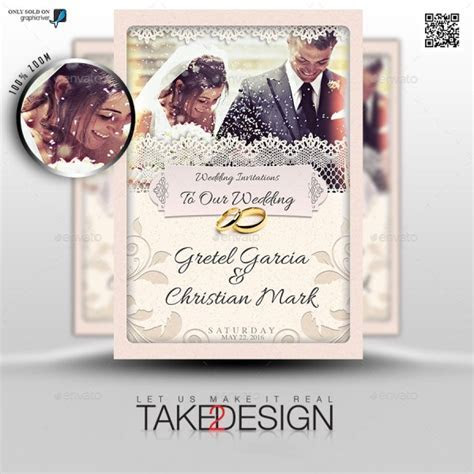 50  Cool PSD & InDesign Wedding Invitation Template